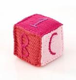 Pebble Cube en Tricot Rose Pebble/ Pink Toy Block