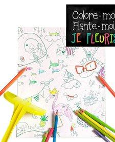 Coloriage Magique Chats de Rue Tabaga /Magic Blooming Paper