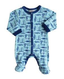 SS17 Pyjama Ligné avec Bateaux Coccoli / Cotton Footie