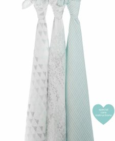 Couverture d'emmaillotage Métallique Skylight Birch Aden & Anais / Silky Soft Swaddles Blanket Metallic Skylight Birch (3 Pack)