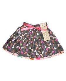 FW17 Jupe Réversible Alice et Simone Triangle Gris et Gâteaux - Reversible Skirt