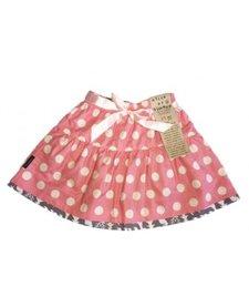 FW17 Jupe Réversible Alice et Simone Triangle Ours et Pois Rose - Reversible Skirt