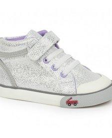 FW17 Souliers Peyton Silver Glitter See Kai Run Sneakers