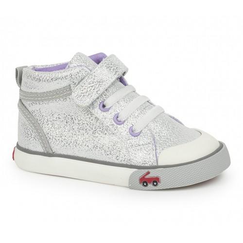 See Kai Run FW17 Souliers Peyton Silver Glitter See Kai Run Sneakers