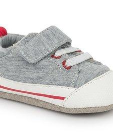 FW17 Souliers Bébé Stevie CRB Gray Jersey See Kai Run Shoes