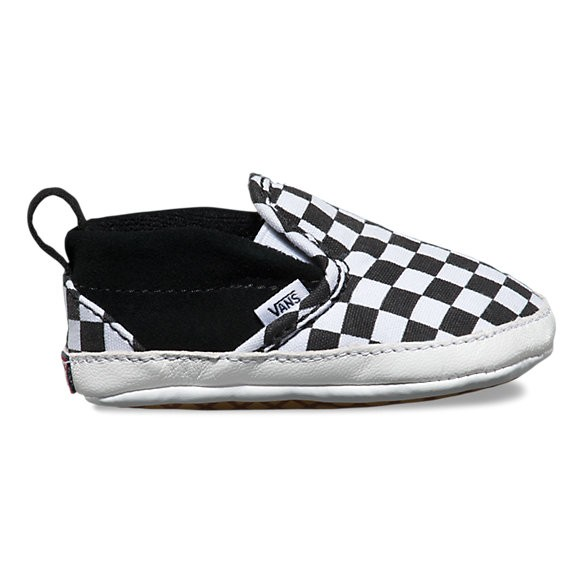 Vans FW17 Souliers Bébé Checkerboard Crib Vans B&W Slip-On