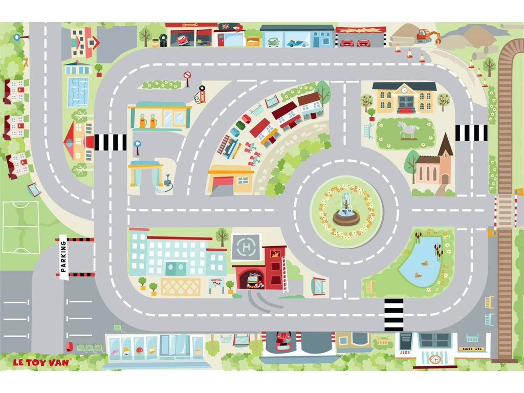 Le Toy Van Tapis de Jeu Ville-Car City Toy Van