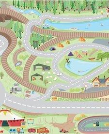 Tapis de Jeu Campagne de Toy Van/Harbour Playmat-80x120 cm