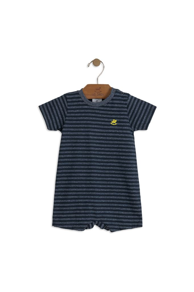 Up Baby SS18 Barboteuse Rayée à Manches Courtes
