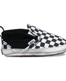 SS18 Souliers Bébé Checkerboard Crib Vans B&W Slip-On