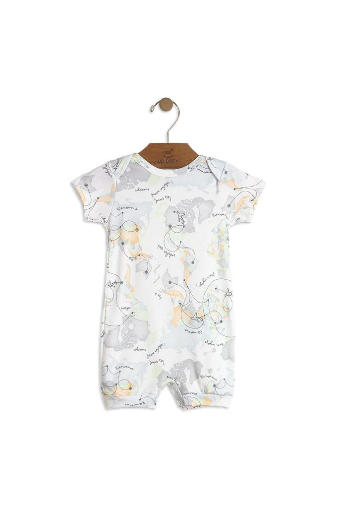 Up Baby SS18 Barboteuse Carte du Monde de Up Baby
