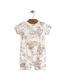SS18 Barboteuse Carte du Monde de Up Baby