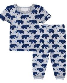 SS18 Pyjama 2 Pièces à Motifs Éléphants / Cotton Pyjama Coccoli
