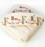 Oko Créations Serviette à capuchon pour bébés Biologique-Forêt enchantée Oko créations
