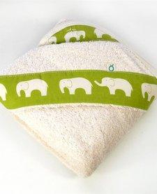 Serviette à capuchon pour bébés Biologique -Éléphants Oko créations