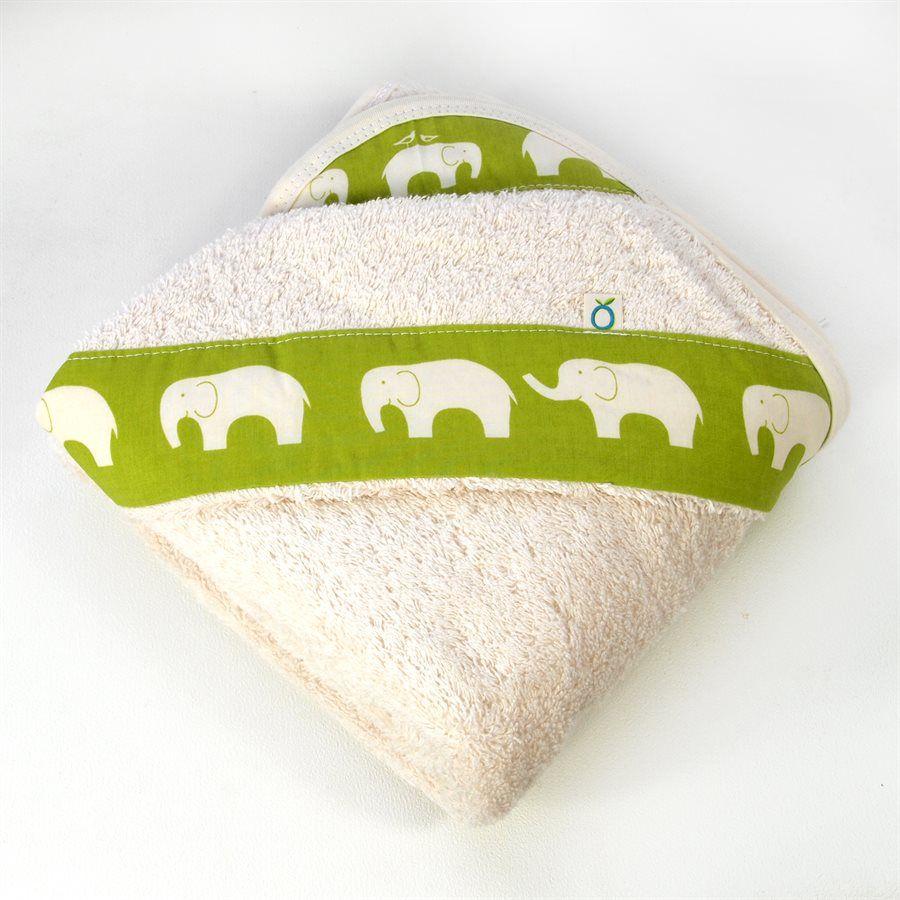 Oko Créations Serviette à capuchon pour bébés Biologique -Éléphants Oko créations