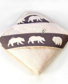 Serviette à capuchon pour bébés Biologique-Petit Ours Oko créations