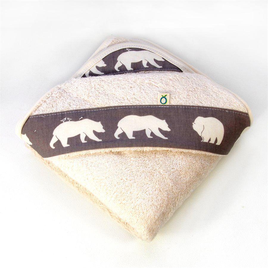 Oko Créations Serviette à capuchon pour bébés Biologique-Petit Ours Oko créations