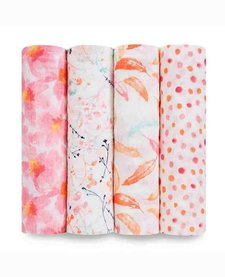 Couvertures d'Emmaillotage Aden & Anais Petal Blooms Swaddles (4 Pack)