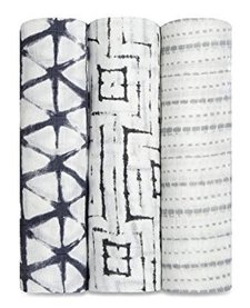 Couverture d'emmaillotage en bambou Aden & Anais Pebble Shibori Bamboo Swaddle (3 Pack)
