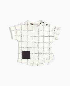 SS18 Chandail Tricot Windowpane T-Shirt de Miles Baby