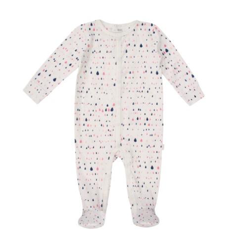 Petit Lem SS18 Pyjama Une Pièce Coton Bio Petit Lem Waterdrop One Piece