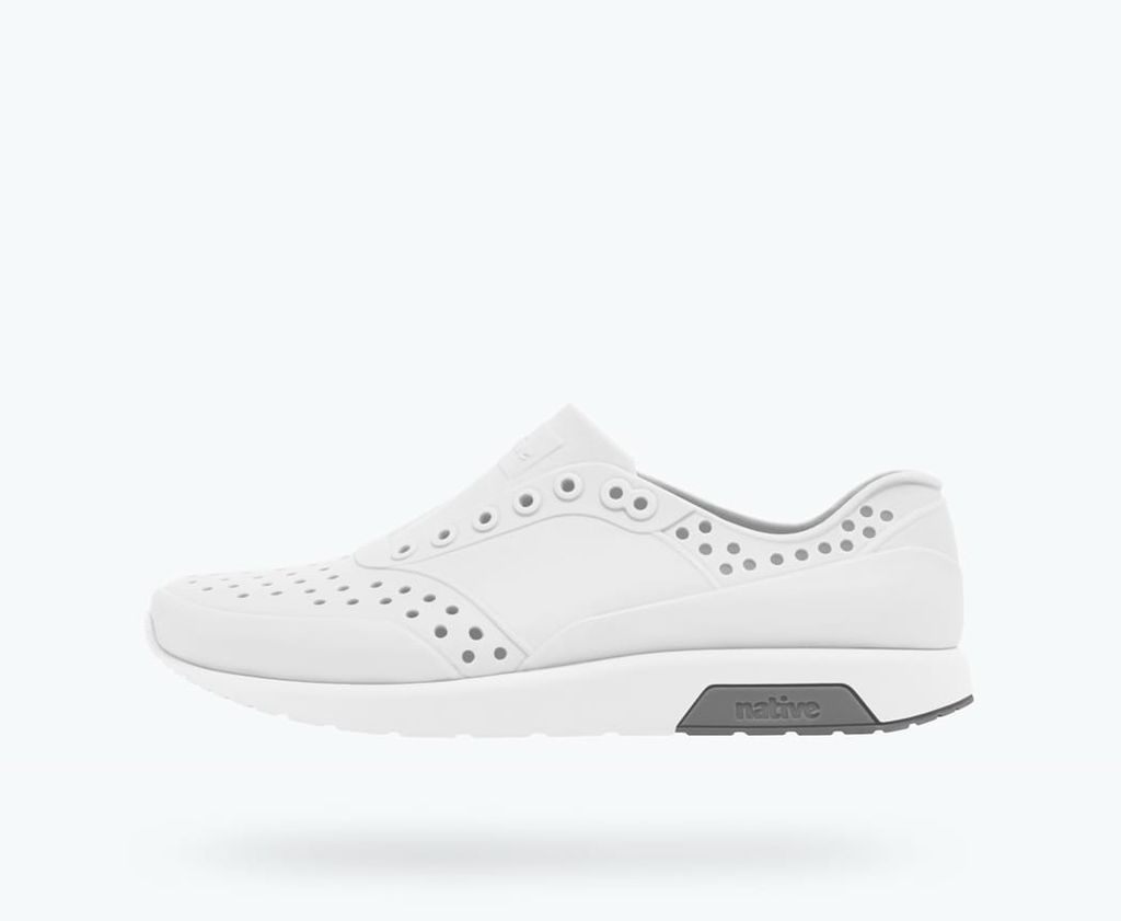 Native SS18 Souliers Native Lennox Child Junior Mist Grey/Shell White