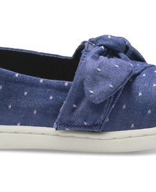 SS18 Chaussures Toms Shoes Blue Dot Chambray Bow Tiny