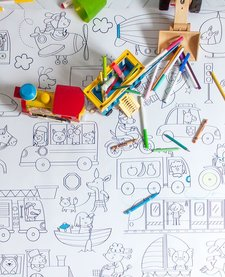 Coloriage Géant Les Moyens De Transport de Rue Tabaga (92cm/122cm)/ Giant Coloring Transport Vehicle