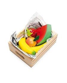 Panier Fruits Frais du Marché en Bois de Toy Van/ Wooden Fruits Toys