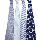 Aden & Anais Couverture d'emmaillotage Aden & Anais Swaddle Seafaring (4 Pack)