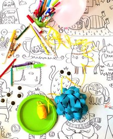 Coloriage Géant Les Petits Monstres de Rue Tabaga (92/165cm)/Giant Coloring Poster My Little Monsters