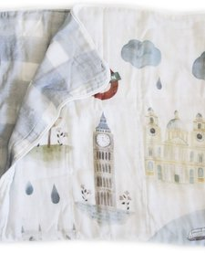 Courtepointe Bambou Londres 120cm de Loulou Lollipop/ Bamboo Quilt London 47'