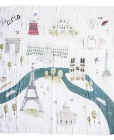Courtepointe Mousseline Paris 120cm de Loulou Lollipop/ Muslin Quilt Paris 47'