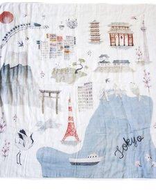 Courtepointe Bambou Tokyo 120cm de Loulou Lollipop/ Bamboo Quilt Tokyo 47'