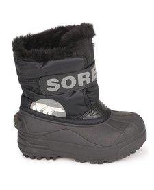 FW18 Bottes d'HIver Sorel à Velcro/ Toddler Snow Commander Black Charcoal Winter Boots