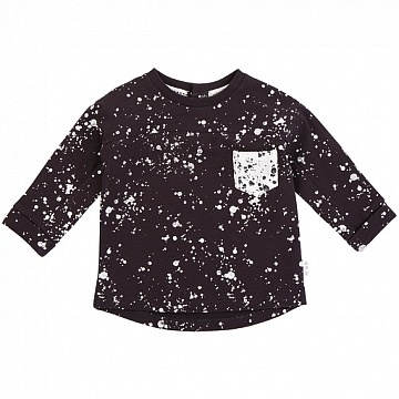 Miles Baby FW18 Chandail à Manches Longues Miles Baby Splatter T-Shirt