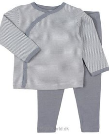 FW18 Pyjama Rayé 2 Pièces Gris Fixoni / Grow Nightset