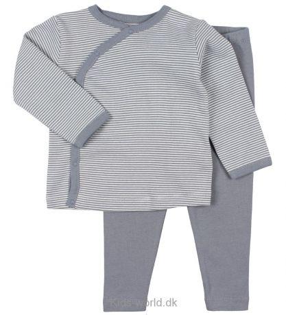 Fixoni FW18 Pyjama Rayé 2 Pièces Gris Fixoni / Grow Nightset