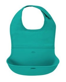 Bavette Roll Up Oxo Tot/ Bib-Turquoise