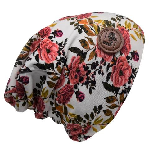L&P Tuque de Coton Ultra Stylée, Motifs Fleurs - L&P