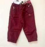 L&P FW18 Pantalons Doublés D'extérieur Bordeau - L&P