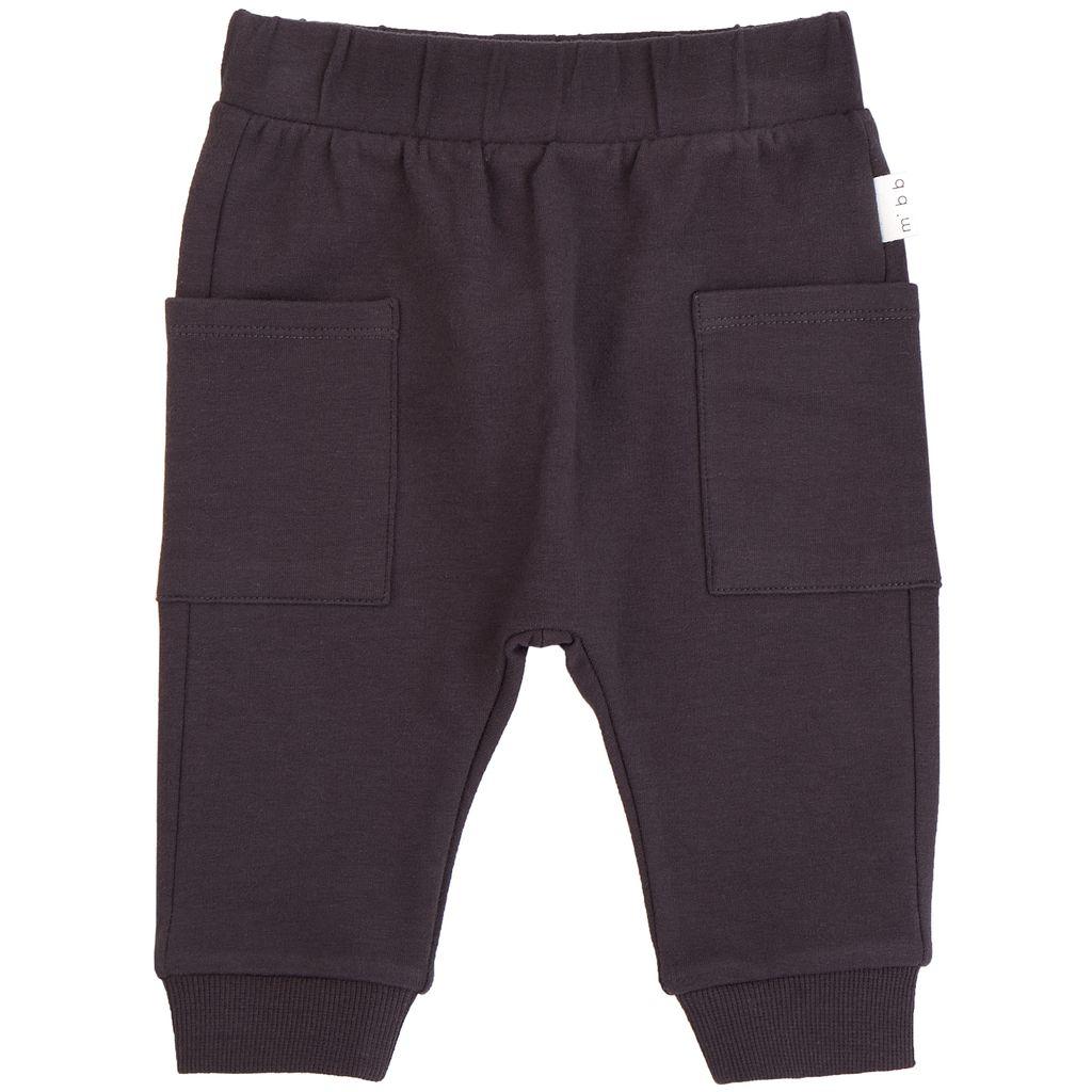 Miles Baby FW18 Pantalon Tricot Gris Foncé - Miles Baby