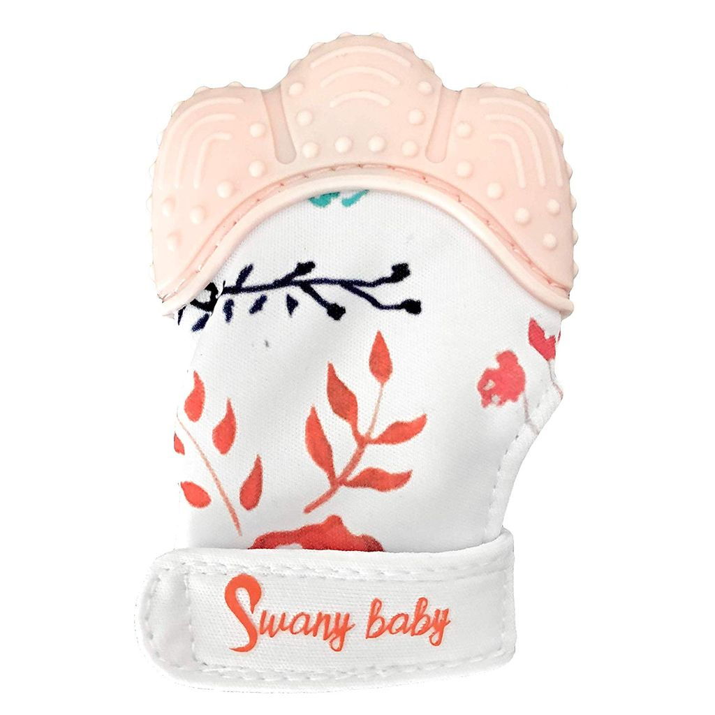 Swany Baby Mitaines de Dentition Fleurie Swany Baby Teething Mitten Floral