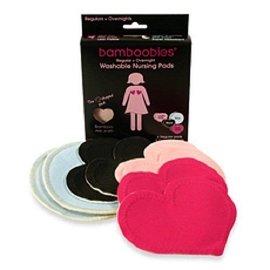 Nursing Pads Bamboobies 3 Reg & 1 Night —Multi-colored (pale pink, black, hot pink)