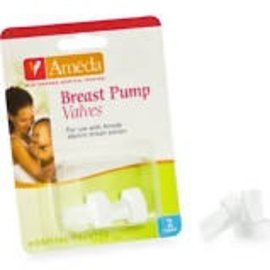 Breastpump Accessories Ameda 2pack White Valves - Bulk Package