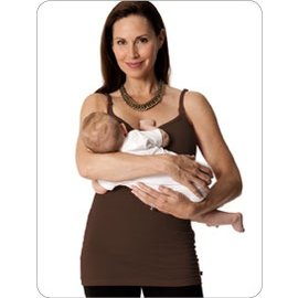 Nursing Tank Nursing Bra Long Top w/Adjustable Chest Band Top