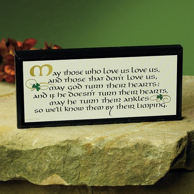 """PLAQUES, SIGNS & POSTERS """"MAY THOSE WHO LOVE US..."""" MINI PLAQUE"""