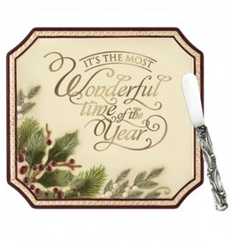 HOLIDAY DECOR MOST WONDERFUL TIME OF THE YEAR PLATTER