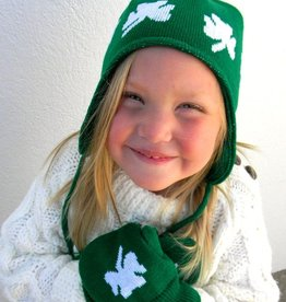 KIDS ACCESSORIES CHILDREN'S GREEN SHAMROCK CAP & MITTEN SET